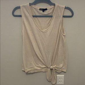 Cream and white striped tank top. Worn once
